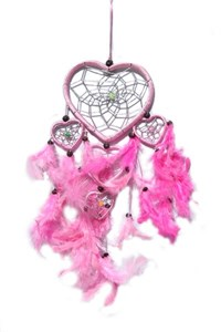 Multi-Heart Dream Catcher, Pink