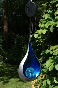 Blue Teardrop Solar Lantern