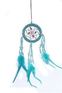 Beaded Dream Catcher, turquoise (6.25 cm)