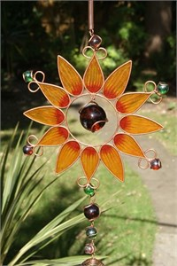 Sunflower Wind Chime, large orange