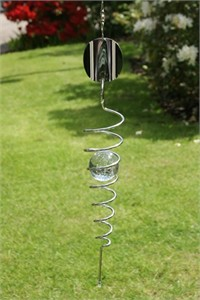 Wind Spiral with Marble, clear