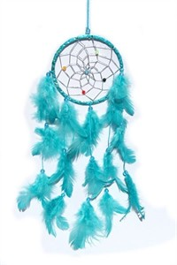 Metallic Hoop Dream Catcher, turquoise (11.5 cm)