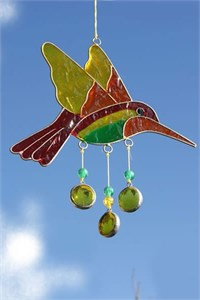 Hummingbird Suncatcher, orange