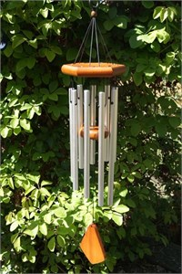 Adante 28 inch Wind Chime, satin chrome