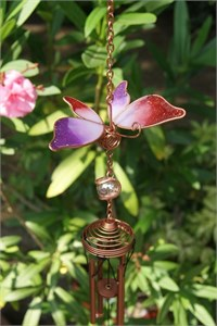 Butterfly Wind Chime, red