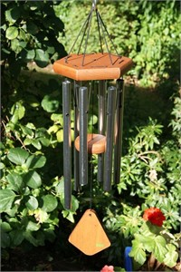 Nature's Melody Wind Chime, 24 inch silver