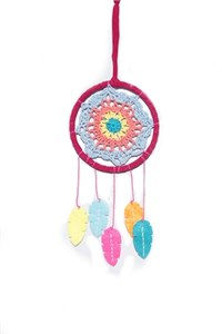 Crocheted Dream Catcher, coloured (11.5 cm)
