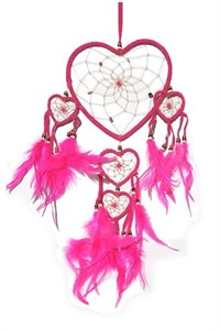 Pink Queen of Hearts Dream Catcher