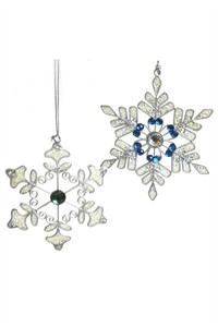 Sparkly Snowflakes, small pair