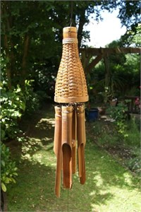 Basket Bamboo Wind Chime