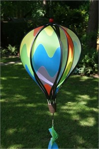 Standard Hot Air Balloon Spinner, Rainbow Wave