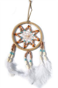 Multi-beaded Dream Catcher, sand