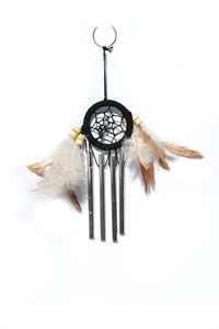 Dream Catcher with Chimes, black