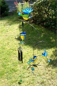 Blue Tits Mobile Wind Chime