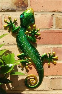 Green Glass Gecko, 36 cm