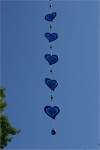 Blue Hearts Suncatcher, medium