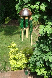 Batu Bamboo Wind Chime, green