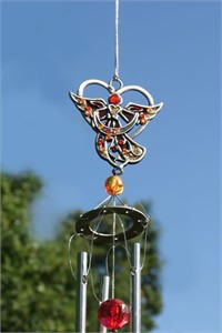 Red Angel Wind Chime