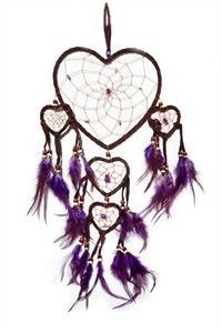 Purple Queen of Hearts Dream Catcher