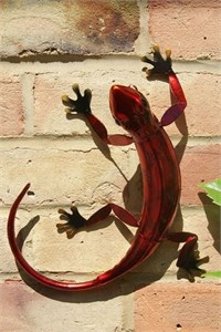 Red Metal Gecko, 27 cm