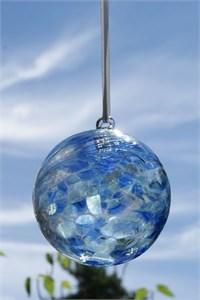 Sapphire Glass Ball, 10 cm
