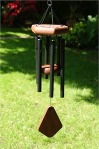 Nature's Melody Wind Chime, 18 inch black