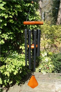Adante 28 inch Wind Chime, satin black