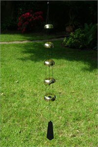 Nature's Melody 5 Brass Temple Bells,