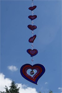 Purple Hearts Suncatcher, large