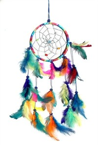 Metallic Hoop Dream Catcher, rainbow (11.5 cm)