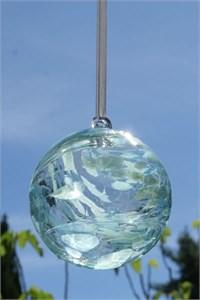 Aquamarine Glass Ball, 10 cm