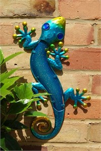 Blue Glass Gecko, 36 cm