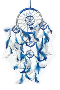 Blue and Silver Dream Catcher (16.5 cm)