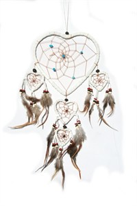 White Queen of Hearts Dream Catcher