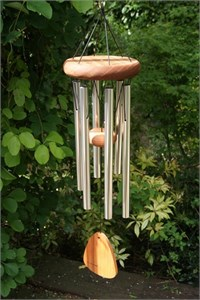 Festival 24 inch Wind Chime, silver