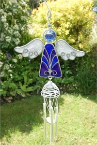 Blue and Purple Angel Wind Chime