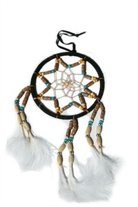 Muli-beaded Dream Catcher, black