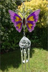 Purple Butterfly Wind Chime