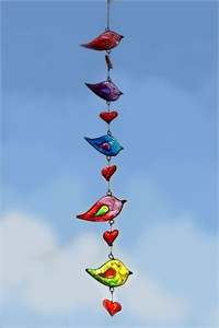 Birds and Hearts Suncatcher