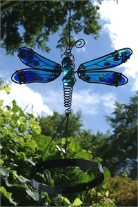 Spotted Blue Dragonfly Wind Chime