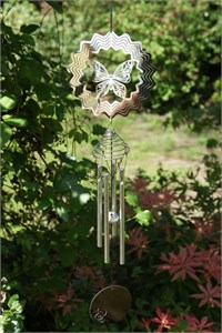 Cosmo Spinner Wind Chime with Butterfly