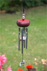 Mini Chime with Crystals, red