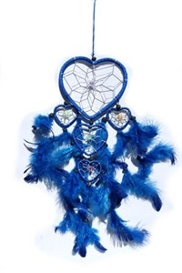 Multi-Heart Dream Catcher, Blue