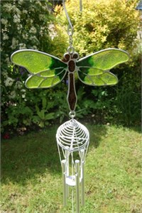Green Dragonfly Wind Chime