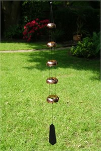 Nature's Melody 5 Copper Temple Bells,