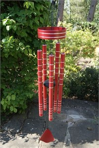 Chorus 40 inch wind chime, rich red