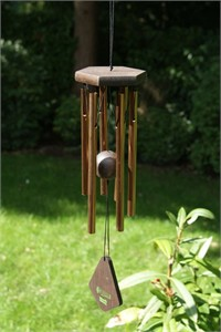 Nature's Melody Wind Chime, 14 inch bronze