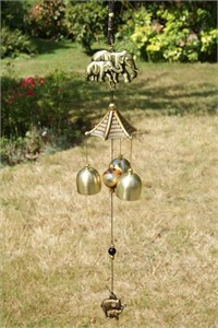 Oriental Bells with Two Elephants