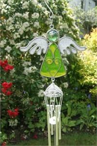 Green Angel Wind Chime