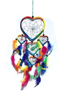 Multi-Heart Dream Catcher, Rainbow